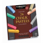 (2 Bx) Assorted Color Artists Chalk Pastels Lift Lid 24 Per Bx