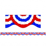 (12 Pk) Patriotic Bunting Scalloped Trimmer