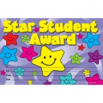 (12 Pk) Star Student Awards 25 Per Pk  8.5 X 5.5