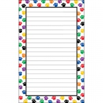 (12 Ea) Colorful Paw Prints Notepad