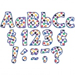 (3 Pk) Colorful Paw Prints Fun Tastic Font 4in Letters Com Pk