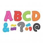 (2 Pk) Chevron Funtastic Font 3in Magnetic Letters