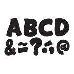 (2 Pk) Black Funtastic Font 3in Magnetic Letters