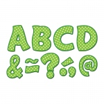 (2 Pk) Lime Polka Dots Funtastic Font 3in Magnetic Letters