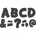 (2 Pk) Black Polka Dots Funtastic Font 3in Magnetic Letters