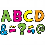 (2 Pk) Neon Brights Funtastic Font 3in Magnetic Letters