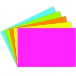 (6 Pk) Index Cards 4x6 Blank Brite Assorted 75 Per Pk