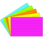 (10 Pk) Index Cards 3x5 Lined Brite Assorted 75 Per Pk
