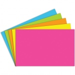 (5 Pk) Index Cards 5x8 Blank Brite Assorted 100 Per Pk