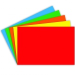 (6 Pk) Border Index Cards 4x6 Blank Primary Colors 100 Per Pk