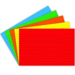 (6 Pk) Border Index Cards 4x6 Lined Primary Clrs 75 Per Pk