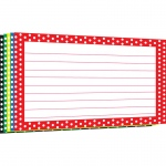 (12 Pk)border Index Cards 4x6 Polka Dot Lined