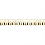 (6 Pk) Gold Coins Border Double Sided Scalloped Edge