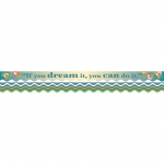(6 Pk) You Can Do It Border Double Sided Scalloped Edge