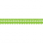 (6 Pk) Happy Lime Border Double Sided Scalloped Edge