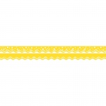 (6 Pk) Happy Lemon Yellow Border Double Sided Scalloped Edge