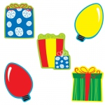 (6 Pk) Gifts & Lights Cut Outs