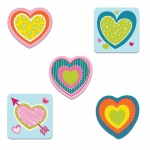(6 Pk) Hearts Cut Outs