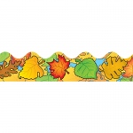 (6 Pk) Border Colored Leaves Scalloped