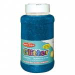 (3 Ea) Glitter 16 Oz Bottle Blue