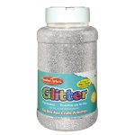 (3 Ea) Glitter 16 Oz Bottle Silver