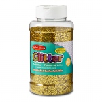 (3 Ea) Glitter 16 Oz Bottle Gold