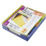 (12 Ea) 5 Tab Index Dividers With Pockets