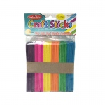 (12 Pk) Craft Sticks Regular Size Colored 150 Per Pk