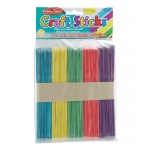 (12 Pk) Craft Sticks Jumbo Colored 75 Per Pk