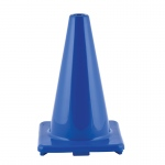 (3 Ea) Flexible Vinyl Cone 12in Blu Weighted