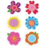 (6 Pk) Springtime Blooms 6in Cut Outs