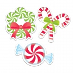 (6 Pk) Peppermint Candies 6in Cut Outs Designer