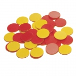 (3 St) Two Color Plastic Counters 200 Per Set