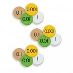 (3 St) 4-Value Decimal To Whole Num Place Value Discs Set 100 Discs