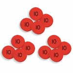 (3 St) 100 Tens Place Value Discs Set