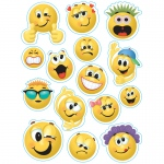 (12 Pk) Emoticons 12 X 17 Window Clings