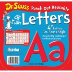 (3 Pk) Dr Seuss Punch Out Reusable Red Letters 4in