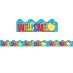 (12 Ea) Color My World Welcome Deco Trim