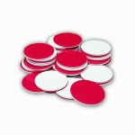 (3 Ea) Red & White Counters 200 Pk Plastic Circle-Shaped