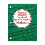 (6 Ea) Merriam Websters Notebook Spanish English Dictionary