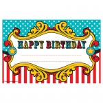 (12 Pk) Carnival Happy Birthday Awards