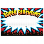 (12 Pk) Superhero Super Birthday Awards