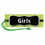 (12 Ea) Lime Polka Dots Magnetic Girls Pass