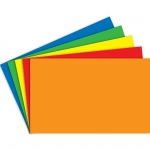 (6 Pk) Index Cards Blank 100ct 5x8 Primary Assorted Per Pk