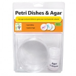 (3 St) Petri Dishes & Agar 3 Per Set