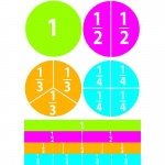 (6 Ea) Math Die Cut Magnets Beginning Fractions