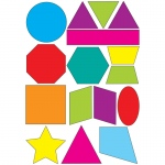 (6 Ea) Math Die Cut Magnets Shapes