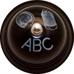 (3 Ea) Decorative Call Bell Abc Chalkboard