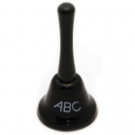 (3 Ea) Decorative Hand Bell Abc Chalkboard