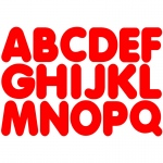 (6 Pk) Red 1-3/4in Magnetic Letters